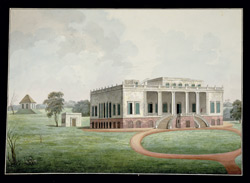 Front view of 'Felicity Hall' the house of the Hon. David Anstruther at Champapoka near Murshidabad